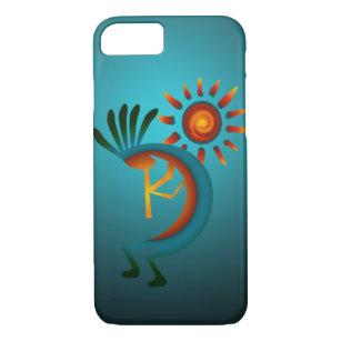 Kokopelli Sun Southwest Turquoise Case-Mate iPhone Case