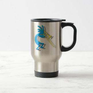 Kokopelli Trombone Travel Mug