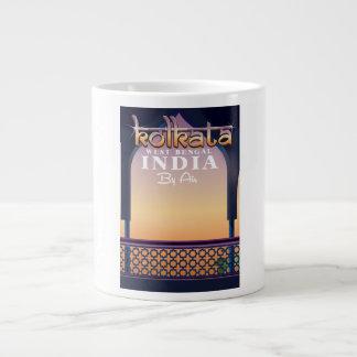 Kolkata - West Bengal India vacation poster Large Coffee Mug