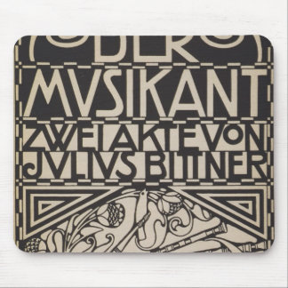 Koloman Moser- Envelope for the score to the opera Mouse Pad