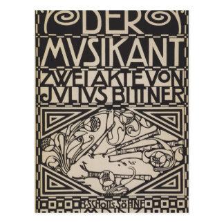 Koloman Moser- Envelope for the score to the opera Postcard