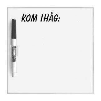 Kom-ihåg - picture dry erase board