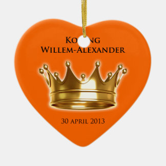 Koning Willem-Alexander Ceramic Heart Decoration