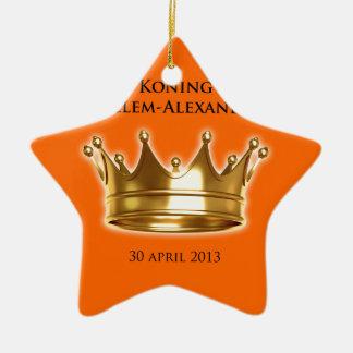 Koning Willem-Alexander Ceramic Star Decoration