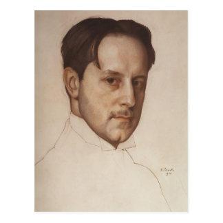 Konstantin Somov- Portrait of M. Dobuzhinsky Postcard