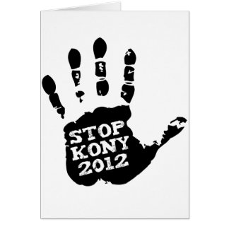 Kony 2012 Handprint Stop Joseph Kony Greeting Cards