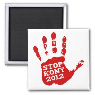 Kony 2012 Handprint Stop Joseph Kony Square Magnet