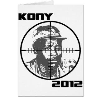 Kony 2012 Joseph Kony Target Crosshairs Greeting Card