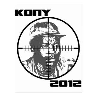 Kony 2012 Joseph Kony Target Crosshairs Postcard