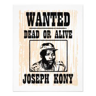Kony 2012 Joseph Kony Wanted Poster 11.5 Cm X 14 Cm Flyer