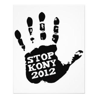 Kony 2012 Stop Joseph Kony Hand 11.5 Cm X 14 Cm Flyer
