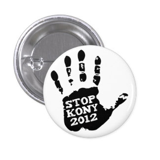 Kony 2012 Stop Joseph Kony Hand 3 Cm Round Badge