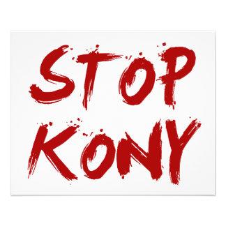 Kony 2012 Stop Red Bloody Joseph Kony 11.5 Cm X 14 Cm Flyer