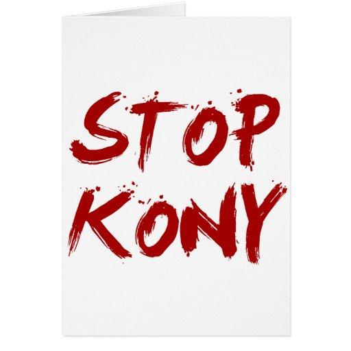 Kony 2012 Stop Red Bloody Joseph Kony Card