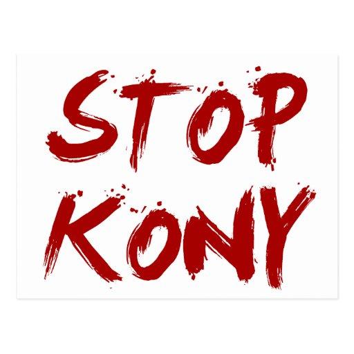 Kony 2012 Stop Red Bloody Joseph Kony Postcards