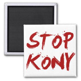 Kony 2012 Stop Red Bloody Joseph Kony Square Magnet