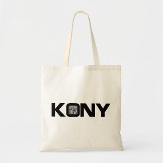 Kony 2012 Video QR Code Joseph Kony Budget Tote Bag