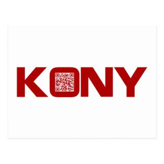 Kony 2012 Video Red QR Code Joseph Kony Postcard