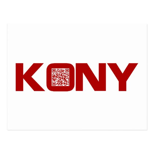 Kony 2012 Video Red QR Code Joseph Kony Post Cards