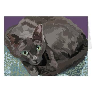 Korat the Good Luck Cat greeting card