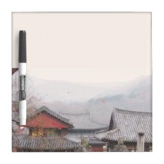 Korean village marker board