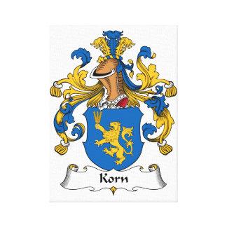 Korn Family Crest Canvas Print