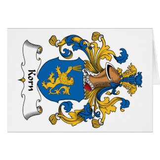 Korn Family Crest Cards