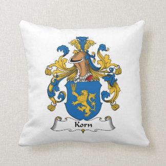 Korn Family Crest Throw Pillows