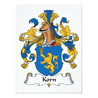 Korn Family Crest Invitation