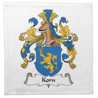 Korn Family Crest Cloth Napkins