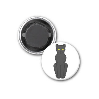 Korn Ja Cat Cartoon 3 Cm Round Magnet