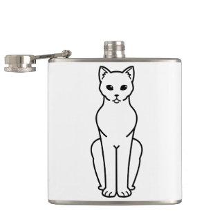 Korn Ja Cat Cartoon Hip Flask