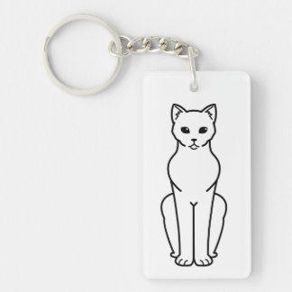 Korn Ja Cat Cartoon Key Ring
