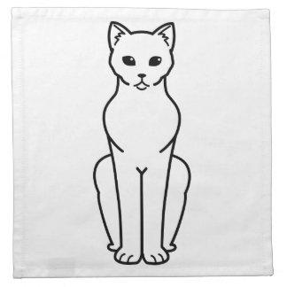 Korn Ja Cat Cartoon Napkin