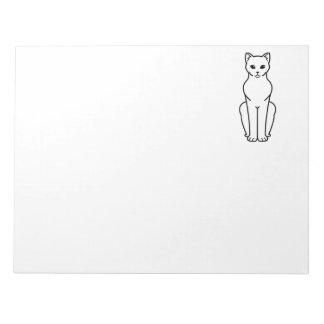 Korn Ja Cat Cartoon Notepads