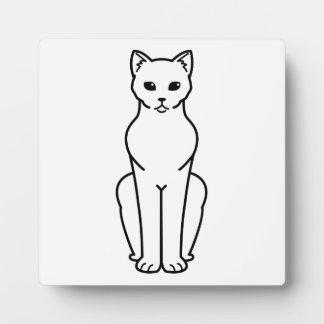 Korn Ja Cat Cartoon Photo Plaque