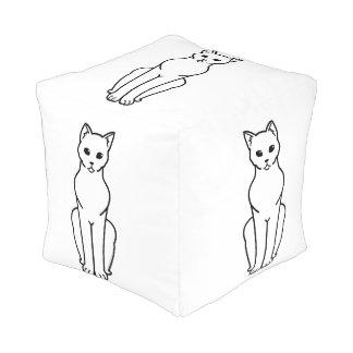 Korn Ja Cat Cartoon Pouf