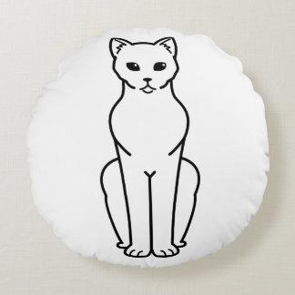 Korn Ja Cat Cartoon Round Cushion