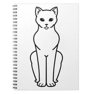 Korn Ja Cat Cartoon Spiral Note Books