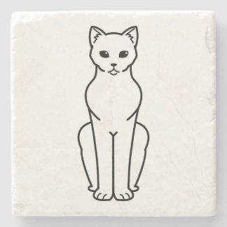 Korn Ja Cat Cartoon Stone Coaster