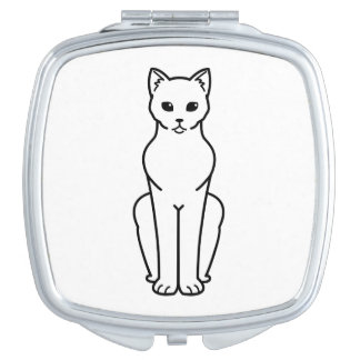 Korn Ja Cat Cartoon Travel Mirror