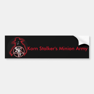 Korn Stalker Minion Army Bumper Sticker Car Bumper Sticker
