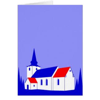 Korning Kirke - The Church in Korning Greeting Card