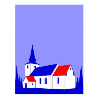 Korning Kirke - The Church in Korning Postcard