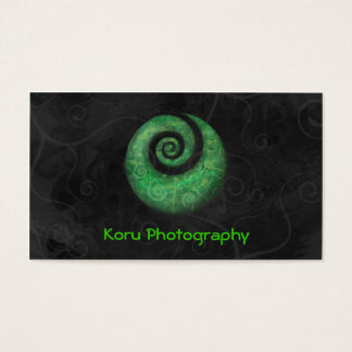 Koru Photography Business Card
