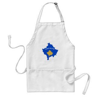 kosovo country flag map shape silhouette standard apron