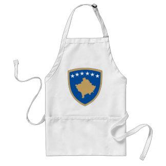 kosovo emblem standard apron