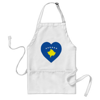 Kosovo Flag Heart Standard Apron