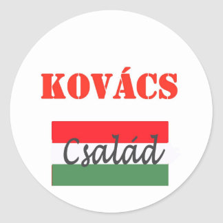 Kovacs csalad round sticker