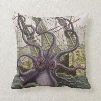 Kraken Octopus Eatting A Pirate Ship 20 Pillow